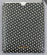 CYNTHIA ROWLEY New York BLACK POLKA DOT GENUINE LEATHER PROTECTIVE IPAD CASE NWT
