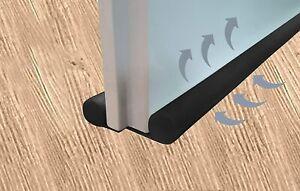 2 x Zugluftstopper 100 cm Tür Dichtung Schwarz Isolierung Durchzug Windstopper
