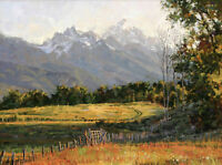 Art Print Texas Landscape Oil painting Giclee Printed on canvas P459