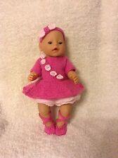 KNITTING PATTERN - Beautiful ballerina costume for 15 - 18 inch doll baby born