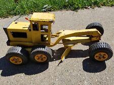 Vintage 1970's TONKA MR-970 Road Grader Metal Yellow Construction Toy Vehicle