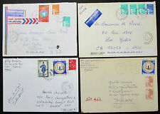 France Set of 4 Covers Letters Stamps Airmail Lupo MiF Frankreich Briefe (H-8218