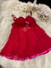 Yamamay red padded underwired Camisole Top sleepwear nightwear size it2B Us32A
