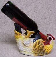 Wine Bottle Holder and/or Decorative Sculpture Hen Chicken NEW