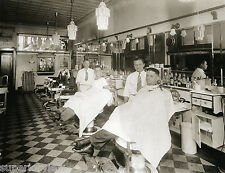 Old Time Barber Shop Vintage Barber Chairs Hair Tonic Bottles Detroit MI CLASSIC