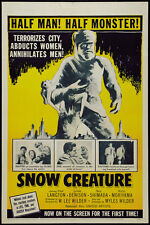The Snow Creature (1954) Cult Horror movie poster print