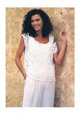 Vintage Crochet Pattern-Ladies Summer Vest/Top/Sweater-PATTERN ONLY-4-Ply ±008
