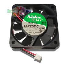 Nidec Beta V SlimlineTA255DC 60mm x 15mm Ball Bearing 12v Fan w/ 2 Pin Connector