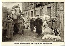 Deutsche Feldpoststation zur Weihnachtszeit bei Lodz * Bilddokument 1915
