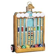 """Croquet Set"" (44135)X Old World Christmas Glass Ornament w/ OWC Box"