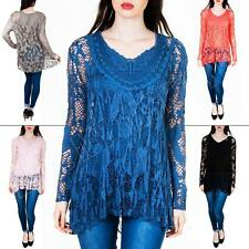 Unbranded Plus Size Long Sleeve Cotton Tops & Shirts for Women