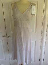 BNWT J CREW soft oyster mink 100% SILK PETITE SOPHIA dress 63196 UK 12 rrp £165
