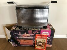 Sunbeam Vertical Griller and Toaster Grill - Chrome - Vintage Boxed Clean Manual