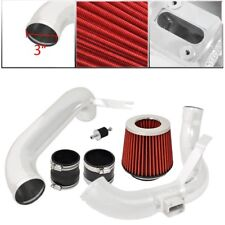 """For Honda Civic 12-15 DX/LS/EX 1.8L Cold Air Intake Chrome 3"""" Air Filter Red"""