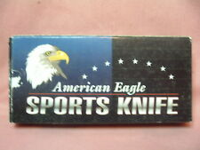 SINGLE BLADE LOCKBACK POCKET KNIFE W/ USA AMERICAN EAGLE  ON HANDLE