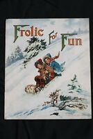 1918 Antique Frolic For Fun The Saalfield Publishing Co. Complete Vintage 11000