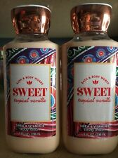 Bath And Body Works Sweet Tropical Vanilla Lotion X2