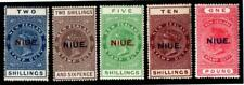 NIUE.1918-1923 5 VALUES.SG 33-37.