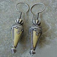 Boho 925 Sliver Cone Earrings Ear Hook Drop Dangle Women Gift Party Jewelry Gift