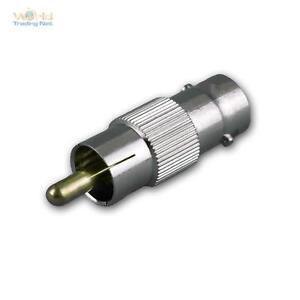BNC-Adapter, BNC Stecker auf Cinch-Stecker / Chinch Stecker, Adapterstecker Koax