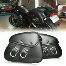 Pair Motorcycle PU Saddlebag Fit Harley Dyna XL1200 Street Bob Heritage Softail