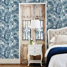A Street Prints / Fine Decor Blue Palm Leaf Jungle Paste the Wall Wallpaper