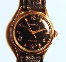 Rare Bulova luxury dress selfwinding gold plated wristwatch