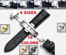 16-22mm Watchband With Butterfly Clasp Genuine Leather Strap Fit Pulseira Watch