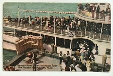 NY Postcard Coney Island New York Crowds Going On Excursion Boat ship Cetus