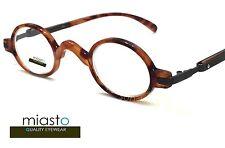 NWT$39.99 MIASTO RETRO OVAL ROUND MINI READER READING GLASSES+2.75 TORTOISE