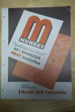 Mundet Cork Corp Catalog/Brochure~Asbestos Insulations/Pipe Coverings 1951