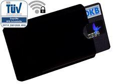RFID Schutzhülle NFC Blocker Schwarz Soft EC Kartenhülle Kreditkarte Ausweisetui