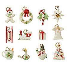 Lenox Winter Delights Miniature Tree Ornaments 12 Set Angel Train Christmas NEW