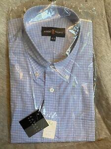 Robert Talbott Dress Shirt Large 16 1/2 X 35. Blue Plaid