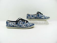 Keds Women Blue White Sneaker Tennis Shoe Size 9M EUR 40 Pre Owned