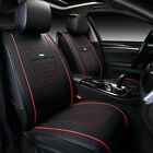 US For Toyota Camry Prius Corolla RAV4 Car Leather Seat Covers Front+Rear BK/RD