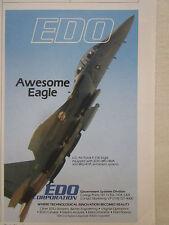 7/1990 bru-46/a bru-47/a edo pub armament systems usaf f-15e eagle original ad