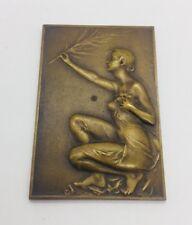 Bremaecker Antique Bronze Nude Lady Plaque