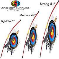 """ASD Archery Red Leisure Recurve Bow Ideal First Bow 36.5, 44, 51"""" Light - Strong"""