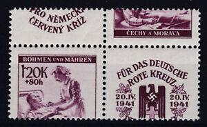 Attraktive Verzähnung auf Rotes Kreuz 1941 mit Zierfeld Nr. 63 Postfrisch **