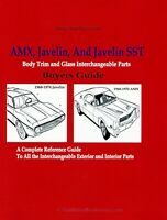 AMC Body Trim and Glass Interchangeable Parts: AMX, Javelin, Javelin SST 1968-19