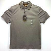Tasso Elba Mens Classic Fit Supima Cotton Polo Shirt Brown S