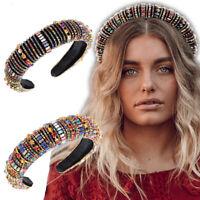Women's Baroque Embellished Headband Jewelled Crown Tiara Wedding Festival Party