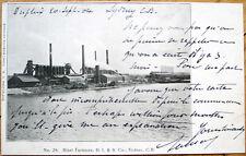 1904 Sydney, Nova Scotia/NS Private Postcard: Blast Furnaces, D. I. & S. Co.