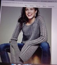 "NWT FREE PEOPLE ""EMMA BELL"" SWEATER BOHO STYLE GYPSY HIPPIE CHIC XS $128 RETAIL"