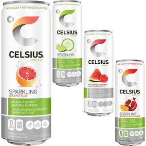 CELSIUS Zero Sugar Fitness Energy Drink - Sparkling Peach Vibe -  12-Pack