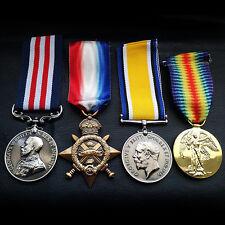 4x Gruppo Set Militare Medaglia,1914 15 Star,Britannico Di Guerra & Victory