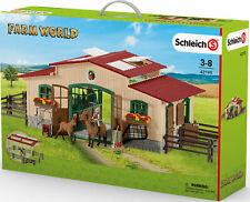 Schleich Pferdestall 42195 Farm World Bauernhof Reiterhof Spielzeugset Zubehör