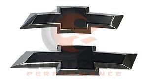 2014-2019 Silverado Genuine GM Front & Rear Black Bowtie Emblem Package 84346558