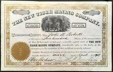 NEW TIGER MINING COMPANY Stock 1890. Leadville, Lake County, Colorado